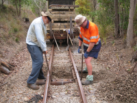 Installing 100th Steel or Concrete Sleeper Mainline Sat 9th Aug 2014 AA