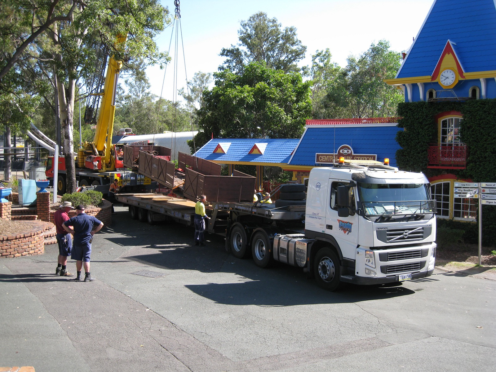 Moving a wagon from Dreamworld