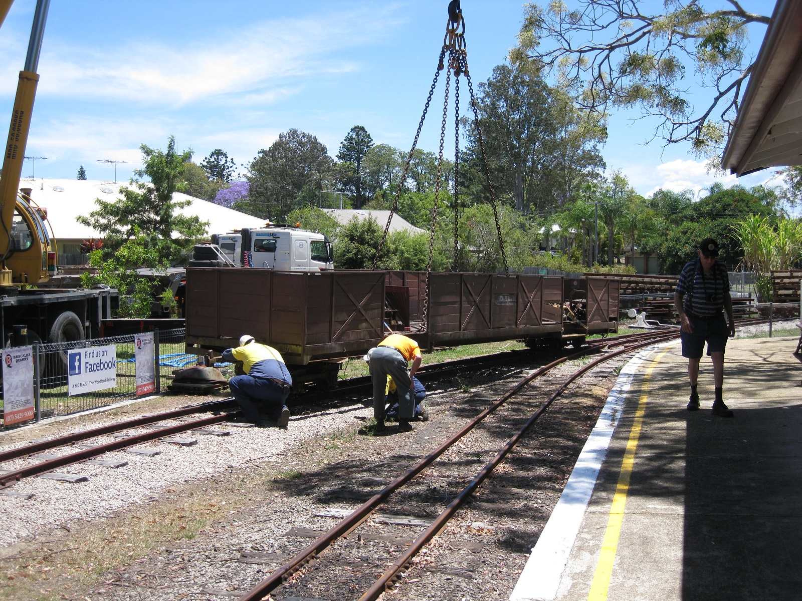 Wagon being delievered to Woodford